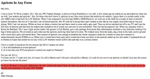 An example of Mike's writing on the Sgt. Grit newsletter