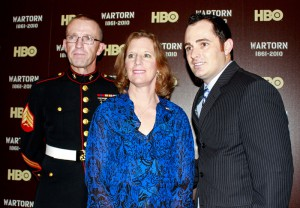 Mike, Charilyn, and Josh Damigo attending a screening of Wartorn at the Pentagon